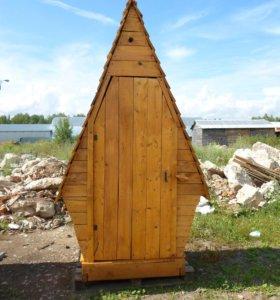 Дачный туалет деревянный новый