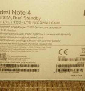 Xiaomi Redmi Note 4 3/32 Gold global