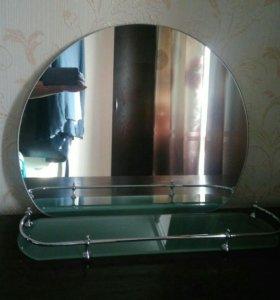 Зеркало с полочкой для ванной
