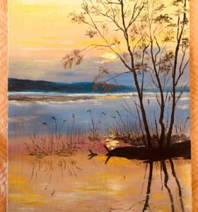 Картины маслинными красками