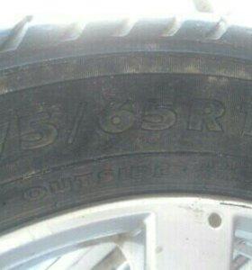 Зимние колеса на Daewoo Nexia.