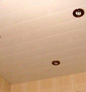 Комплекты реечных потолков для ванной и туалета