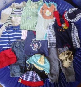 Пакет летних вещей на мальчика, 3-6 мес