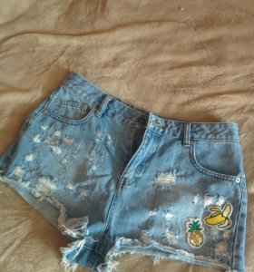 Шорты джинсовые Pull&Bear