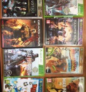 Xbox360 14 игр 2 джойстика