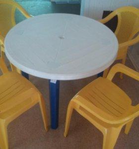 Дачный стол и  стулья