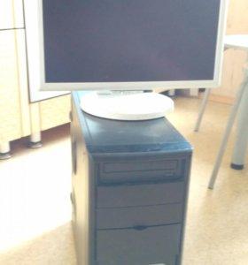 Полный комплект: компьютер, монитор, кабели