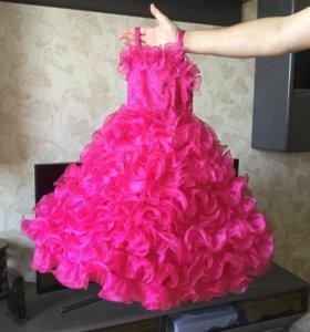 Платье розовое рост 116—122