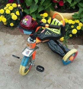 Детский велосипед музыкальный