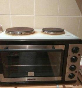 двухконфорочная плита с духовкой VELLTON