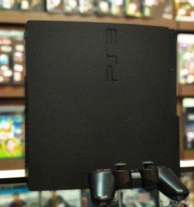PlayStation 3 Slim + 4 игры, гарантия