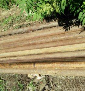 Трубы металлические на забор