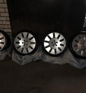 Оригинальные литые диски AUDI A8 r18 c резиной