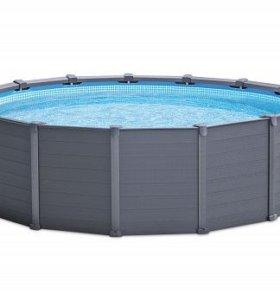 Каркасный круглый бассейн 478x124 см, 16805 л.