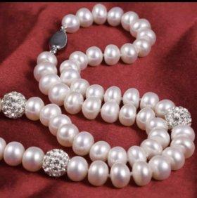 Бусы из жемчуга ( серебро 925 )