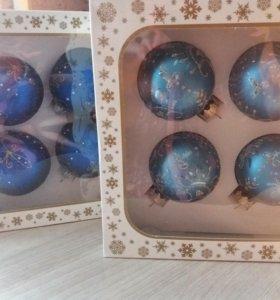 Игрушки новогодние из стекла