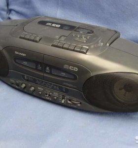 Двухкассетная Магнитола SharP WQ-CD220L(QY)