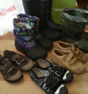 Обувь, пакетом, 29-32 размер