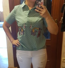 Новая блузка с вышивкой