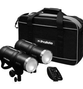Комплеет профессионального света для фотостудии.