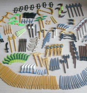 Лего ниндзяго минифигурки много оружия