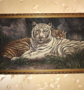 Гобеленовая картина Тигры 55 х 105 см