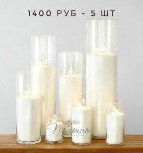 Насыпные свечи в колбах