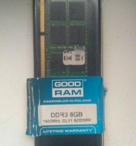DDR3 sodimm 8GB Goodram