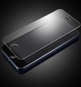 Защитные стекла на iPhone 4 5 6 7 8 plus X