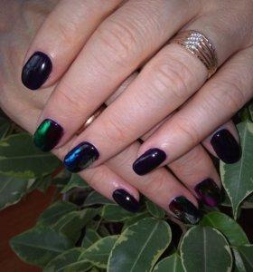 Маникюр + покрытие ногтей гель-лаком на дому.