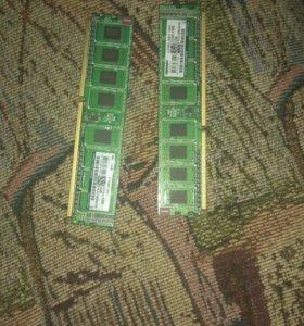 Оперативная память, озу 2x2gb kingston ddr3