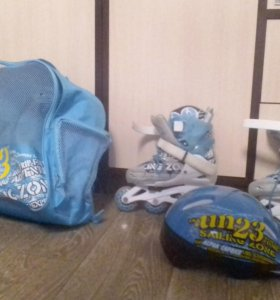 Ролики детские + шлем + рюкзак