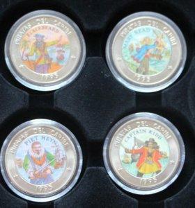 1 песо Куба 1995г набор 6 штук (пираты)