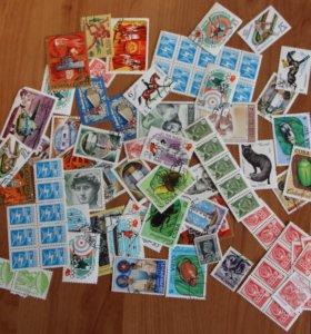 Марки Китай, солянка, открытки СССР