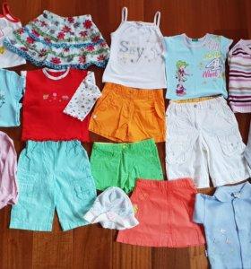 Одежда на девочку 98-116 см летние 17 вещей