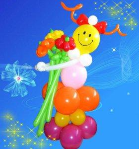 Шары с гелием и композиции из шаров