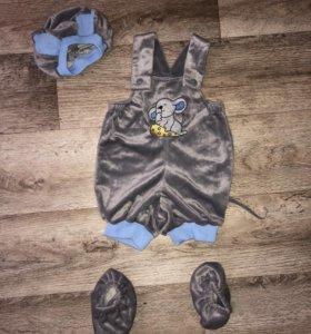 Новогодний костюм мышонка на 1-3 года