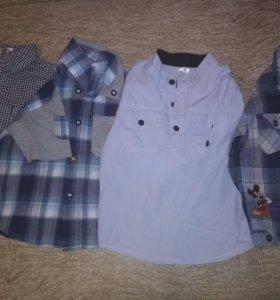 Рубашки на мальчика от 1,5-3лет