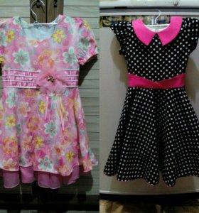 Пакет детской одежды (шапки, платья, кофты, штаны)