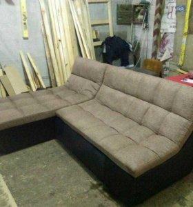 Угловой модульный диван
