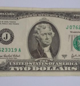 США 2 доллара 2003