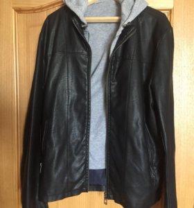 Кожаная куртка Zara (кожанка)