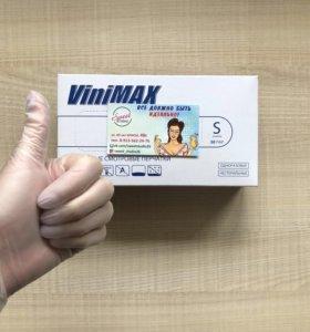 Перчатки виниловые ViniMAX (размер S, M)