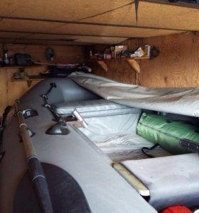 Лодка ПВХ + мотор Honda bf-15+ прицеп