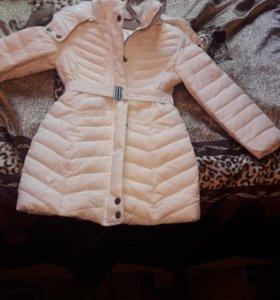 Зимнее теплое пальто на девочку