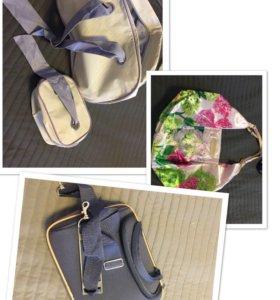 Косметичка, 2 сумки, чемоданчик для косметики