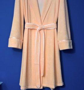Уютный, персиковый, махровый халат, новый