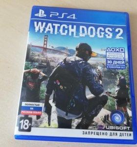 Диск (Blu Ray) с игрой Watch Dogs 2 для PS4