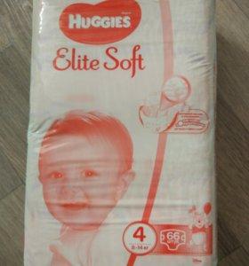 Новые Подгузники huggies elite soft 4