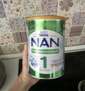 Смесь nan optipro 1 и nan кисломолочный 1